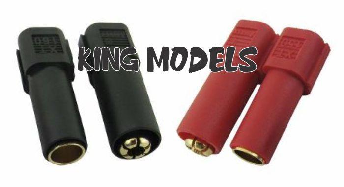 Conector Xt150 - 6mm - 2xpares(macho E Femea) - 2xcores  - King Models