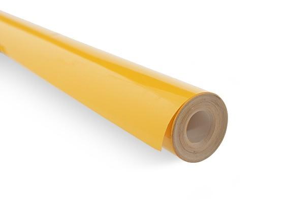 Rolo 5xmts Chinakote ( Monokote )- Amarelo Ambar - 640mm   - King Models