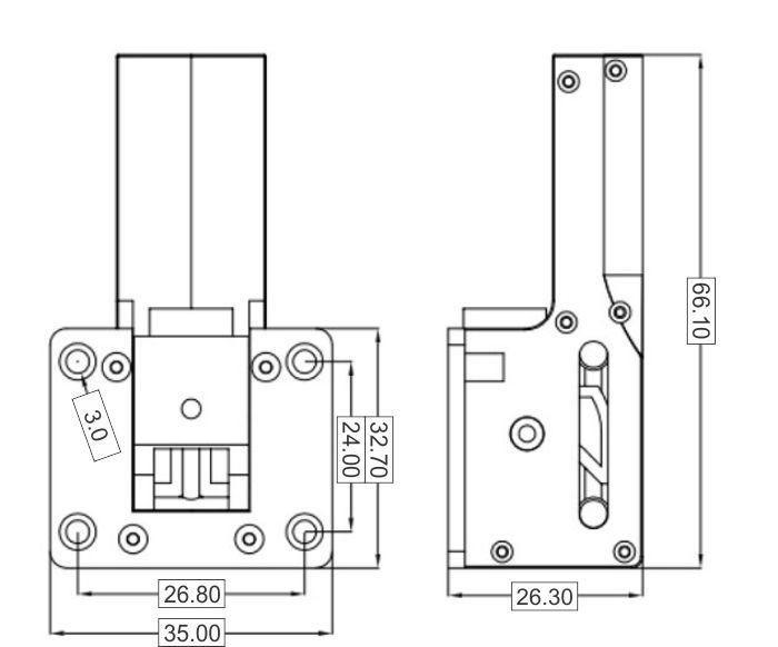 Trem Retrátil Com Servo Acoplado 37g - 3mm - Aeros Até 2.5g  - King Models