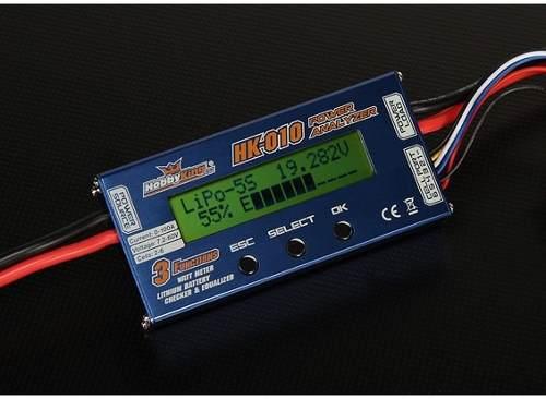 Wattimetro E Analizer Voltage Hk - Lipo / Life / Liion  - King Models