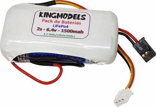 Bateria Life Rontek 2s - 6.4v - 1500mah - 8c - Cilíndrica  - King Models