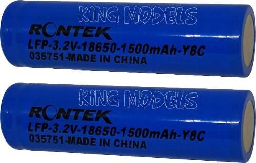 Bateria Life Rontek Cilíndrica 18650 -3.2v-1500mah-8c - 2pçs  - King Models