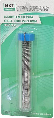 Solda A Estanho Mxt - Fio De 1mm / 15grs - Liga Sn60 Pb40  - King Models