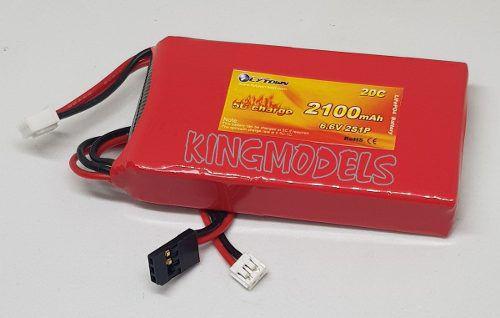 Bateria Life Flytown 2s - 6.6v - 2100mah - 20c -  Conexão Futaba  - King Models