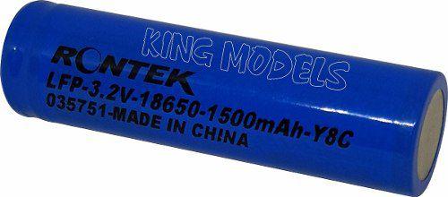 Bateria Life Rontek Cilíndrica 18650 - 3.2v - 1500mah - 8c  - King Models