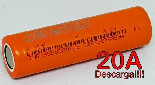 Bateria Li-ion 18650 - Rontek - 2000mah - 20a Descarga!!!!  - King Models