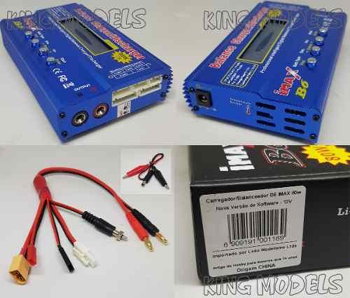 Carregador Inteligente Imax B6 -80w-7a - Sem Fonte+ Brinde!  - King Models