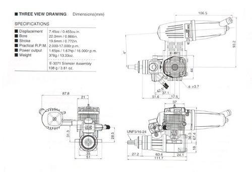 Motor Os Engines 46ax Ii (metanol) - Nova Geração 2 Tempos  - King Models