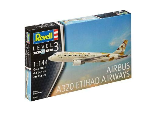 Revell - A320 Etihad Airwais - Escala 1:144 - Level 3  - King Models