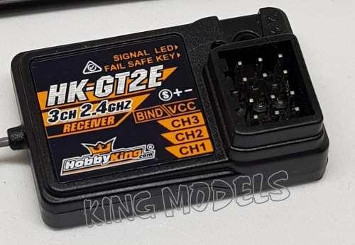 Receptor Hobby King 2ch - Rádios Tipo Pistola Gt2e - Hk-gt2e  - King Models