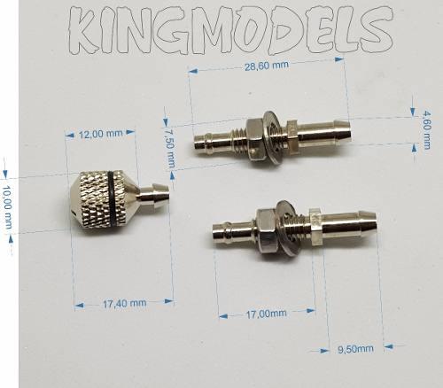 Kit Conexões P/ Montagem De Tanque De Aeromodelos - Miracle  - King Models