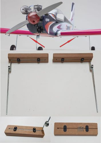 Kit Para Trem De Pouso Em Aero Asa Baixa - Com Base - 18pçs  - King Models