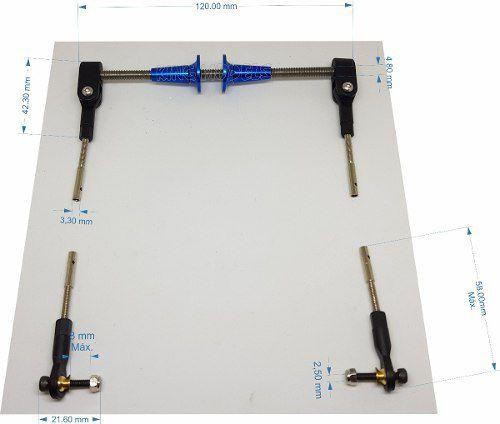 Kit Para Comando De Leme Para Aeros Giant - Pull Pull  - King Models
