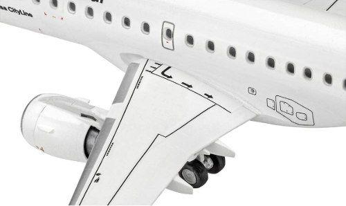 Revell - Embraer 190 - Lufthansa - Escala 1:144 - Level 3  - King Models