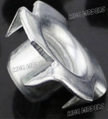 Conjunto 5pçs Porca Garra M6 - Travamento Motor - Trem Pouso  - King Models