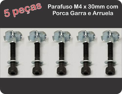 Conjunto 5pçs Porca Garra Com 5 Parafusos M4x30mm-allen  - King Models