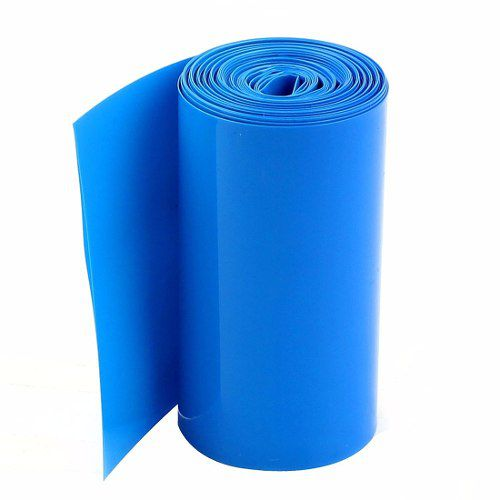 Tubo Termo Retrátil Azul Pvc 85mm Chato / Diam 54.1mm - 5mts  - King Models