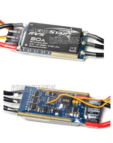 Speed Control Brushless Aerostar 80a Bec 5a Com Conectores  - King Models