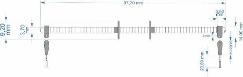 Sistema Pull Pull De Comando De Leme Para Aeros Larga Escala  - King Models