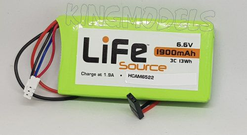 Bateria Life 2s - 6.6v - 1900mah - 3c 13wh - Hobbico  - King Models
