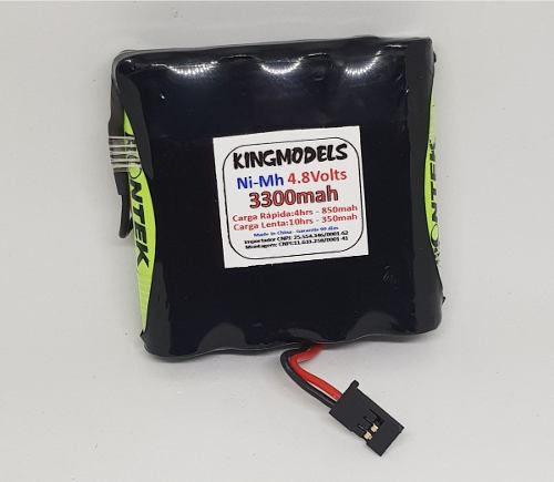 Super Pack Bateria Nimh 4,8v - 3300mah P/ Modelismo - Top!!!  - King Models