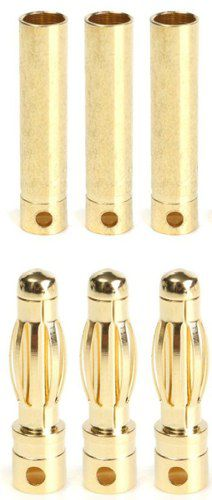 Conector Bullet 4mm - 3 Pares +++ Termo-retrátil Grátis!!!!  - King Models