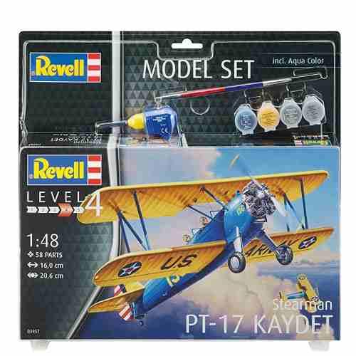 Revell - Pt-17 Kaydet - Esc. 1:48 - Nivel 4 - Kit Completo  - King Models