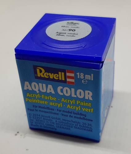 Tinta Revell - Aqua Color - Cod 36190 - Silver 18ml  - King Models