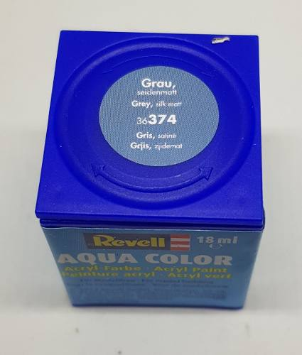 Tinta Revell - Aqua Color - Cod 36374 - Grey 18ml  - King Models