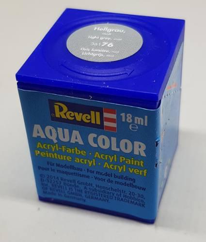 Tinta Revell - Aqua Color - Cod 36176 - Light Grey 18ml  - King Models