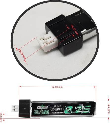 Bateria Lipo Charsoon 1s 3.7v 250mah 30/60c - Wltoys-eflite  - King Models