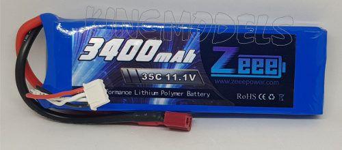Bateria Lipo 3s 11.1v - 3400mah - 35c - Alta Descarga!!!  - King Models