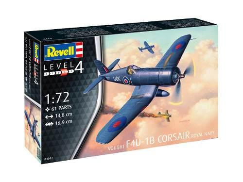 Revell - F4u-1b Corsair Royal Navy - Esc1:72- Level 4   - King Models