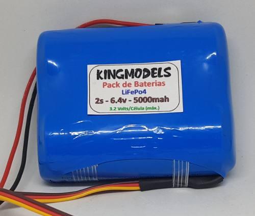 Bateria Life Rontek 2s - 6.4v - 5000mah - 5c - Cilíndrica  - King Models