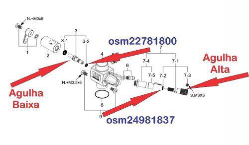 O-ring P/ Agulha Baixa Motores Os Engines Asp Osm 22781800  - King Models
