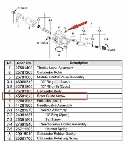 Parafuso Guia De Curso Motor Os Engines Vários Còd. 45581820  - King Models