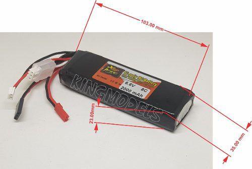 Bateria Life Zop Power 2s 6.6v 2000mah - 8c Descarga!! Top!!  - King Models