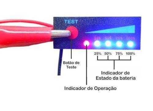Monitor De Carga De Bateria Lipo Ou Liion 3s - 11.1v A 12.6v  - King Models