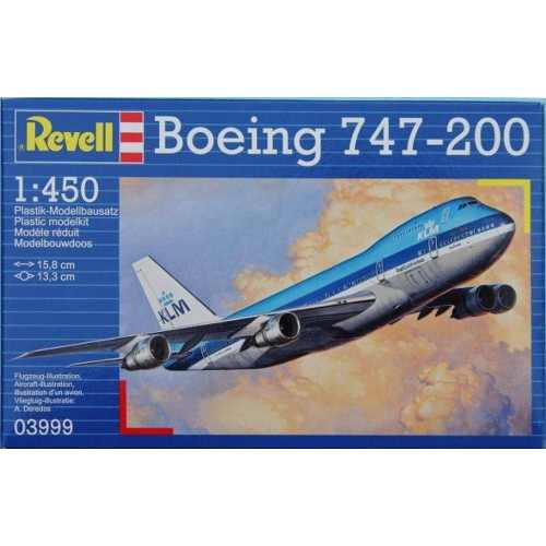 Revell - Boeing 747-200 Jumbo Jet Esc 1:450 Level 3 Klm  - King Models
