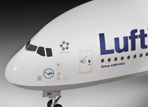 Revell - Airbus A380-800 Lufthansa - Escala 1:144 - Level 4  - King Models