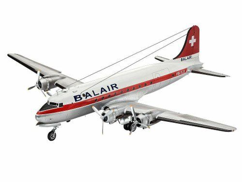Revell - Dc-4 Balair / Iceland Airways Escala 1:72 Level 5  - King Models