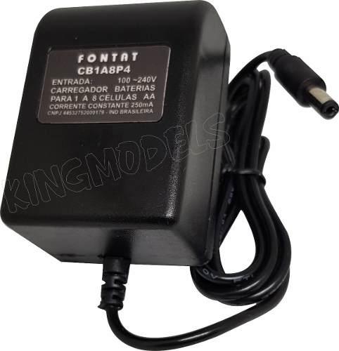 Carregador Para Packs Nimh E Nicd 1 A 8 Pilhas 250mah 4x plugs  - King Models