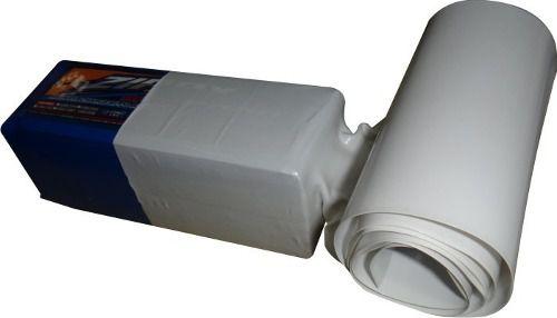 Tubo Termo Retrátil Pvc 210mm (chato) Diametro133.5mm Branco  - King Models