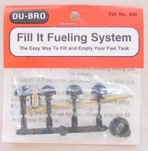Válvula Para Abastecimento Dubro 840 P/ Aeros Glow/gasolina  - King Models