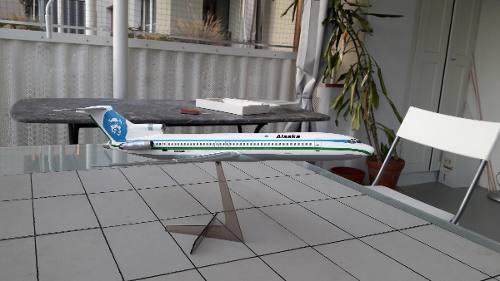 Heller - Boeing 727 Alaska Airlines - Escala 1:125 - 62pçs  - King Models