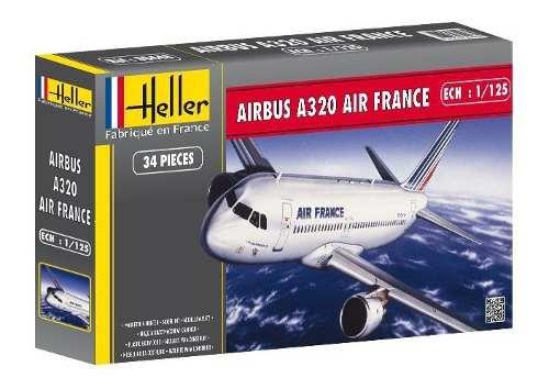 Heller - Airbus A320 Air France- Escala 1:125 - 34pçs  - King Models