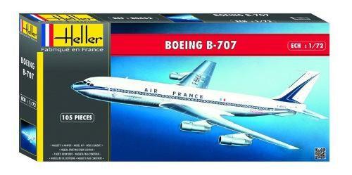 Heller - Boeing B-707 Air France - Escala 1:72 - 105pçs  - King Models