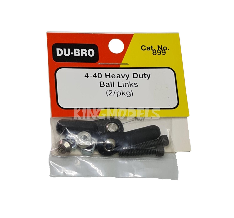 Ball Link Dubro - Heavy Duty - Dub899 - Rosca 4-40 - 2pçs  - King Models