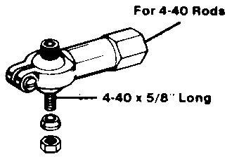 Ball Link Dubro - Linkagem Aeros Giant - Dub259 - Rosca 4-40  - King Models
