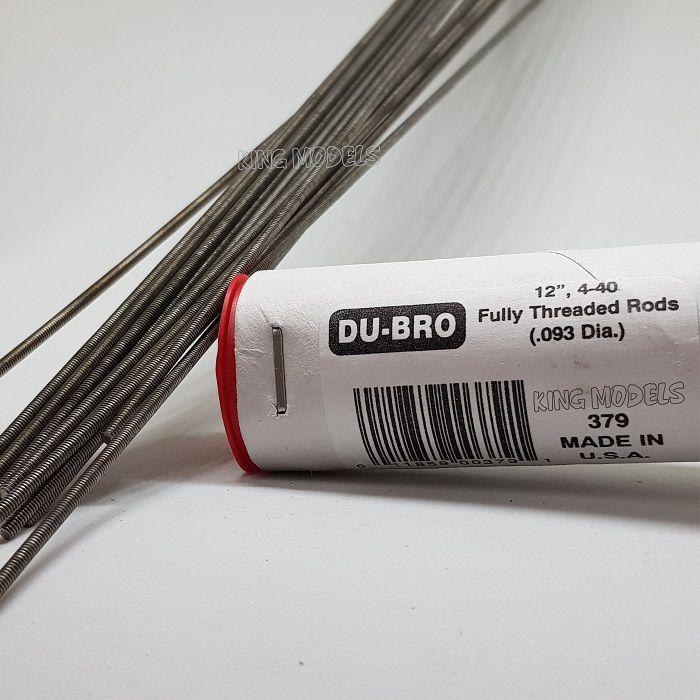 Barra Roscada Dubro 379 - Padrão 4-40 - 30cm - Linkagem Aero  - King Models